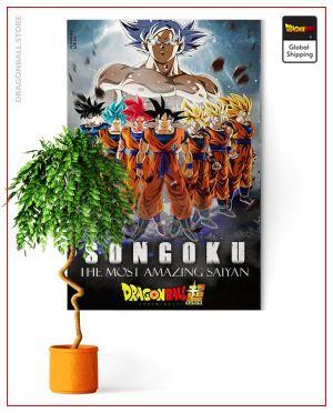 Dragon Ball Super Wall Art Canvas Saiyan Forms Small - 35x50 cm / Without frame Official Dragon Ball Z Merch