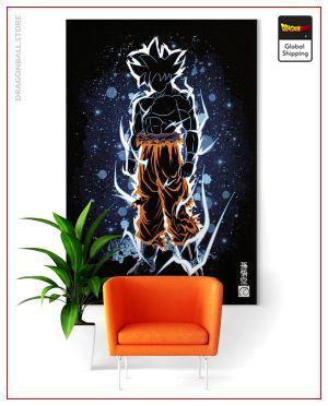 Dragon Ball Super Wall Art Canvas Goku Ultra Instinct Small - 35x50 cm / Without frame Official Dragon Ball Z Merch