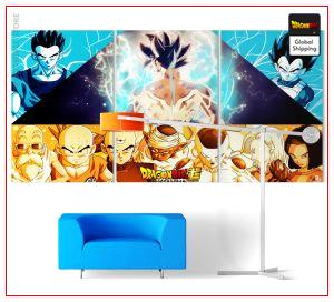 Wall Art Canvas Dragon Ball Z Universe 7 Small - 30x45 cm (x3) / Without frame Official Dragon Ball Z Merch