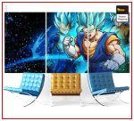 Dragon Ball Super Wall Art Canvas Vegeto Super Saiyan Blue Small - 30x45 cm (x3) / Without frame Official Dragon Ball Z Merch
