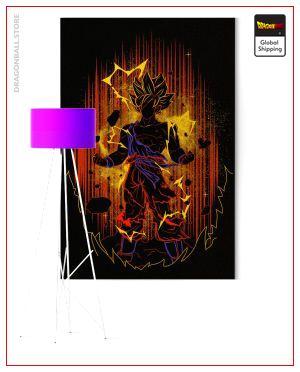 Wall Art Canvas Dragon Ball Z Goku SSJ2 Small - 35x50 cm / Without frame Official Dragon Ball Z Merch