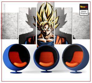 Wall Art Canvas Dragon Ball Z  Son Goku Saiyan Small / Without frame Official Dragon Ball Z Merch