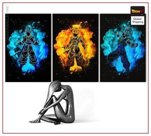 Wall Art Canvas Dragon Ball Art of Fusion Small - 30x45 cm (x3) / With frame Official Dragon Ball Z Merch