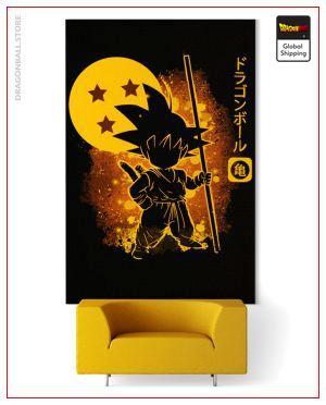 Wall Art Canvas Dragon Ball  Goku Original Small - 35x50 cm / Without frame Official Dragon Ball Z Merch