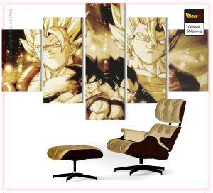 Wall Art Canvas Dragon Ball  Goku and Vegeta : fusion LITTLE / Without frame Official Dragon Ball Z Merch