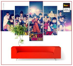 Wall Art Canvas Dragon Ball Z  Saiyan universe Small / With frame Official Dragon Ball Z Merch