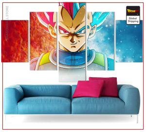 Dragon Ball Super Wall Art Canvas Vegeta Prince Saiyan Small / Without frame Official Dragon Ball Z Merch