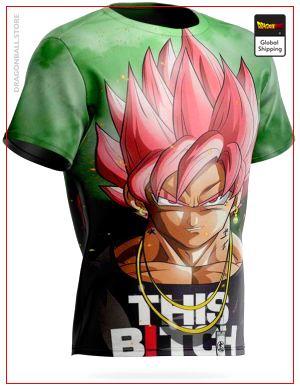 Dragon Ball Super T-Shirt Goku Black SSJ Pink M Official Dragon Ball Z Merch