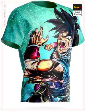 Dragon Ball Super T-Shirt Indomitable Warrior M Official Dragon Ball Z Merch
