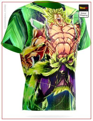 Dragon Ball Super T-Shirt Broly Uncontrollable S Official Dragon Ball Z Merch