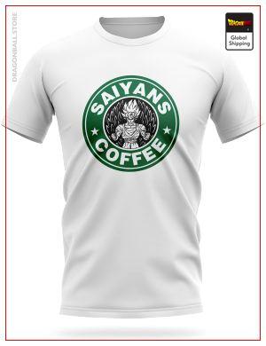 Dragon Ball Z T-Shirt Saiyans Coffee S Official Dragon Ball Z Merch
