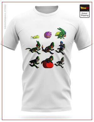 Dragon Ball Z T-Shirt Cell Transformations S Official Dragon Ball Z Merch