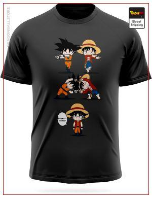 Dragon Ball Z T-Shirt Fusion Goku Luffy Grey / 3XL Official Dragon Ball Z Merch