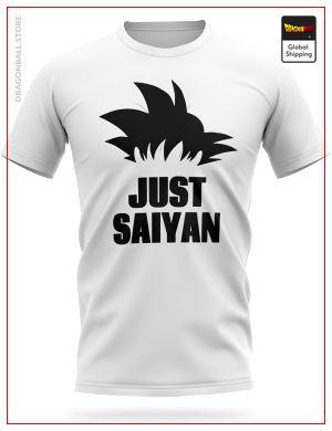 Dragon Ball T-Shirt Goku JUST SAIYAN S Official Dragon Ball Z Merch