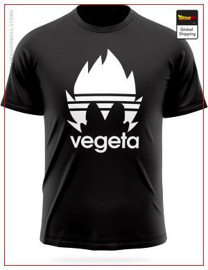 Dragon Ball Z Vegeta Adidas T-Shirt Black / S Official Dragon Ball Z Merch