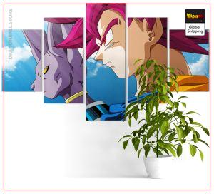 Wall Art Canvas Dragon Ball Super  Goku God and Beerus Medium / Without frame Official Dragon Ball Z Merch