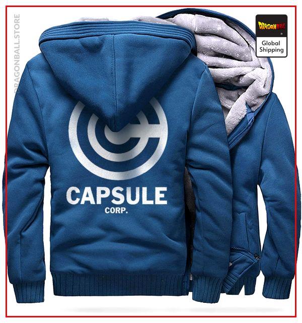 DBZ Fleece Jacket Capsule Corp (Azure Blue) M Official Dragon Ball Z Merch