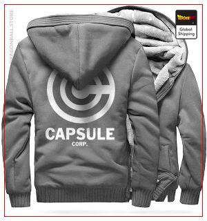 DBZ Fleece Jacket Capsule Corp (Light Grey) M Official Dragon Ball Z Merch