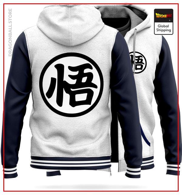 "DBZ Molton Jacket  Kanji ""Go"" (White) M Official Dragon Ball Z Merch"