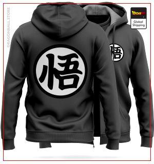 "DBZ Molton Jacket  Kanji ""Go"" (Grey) M Official Dragon Ball Z Merch"