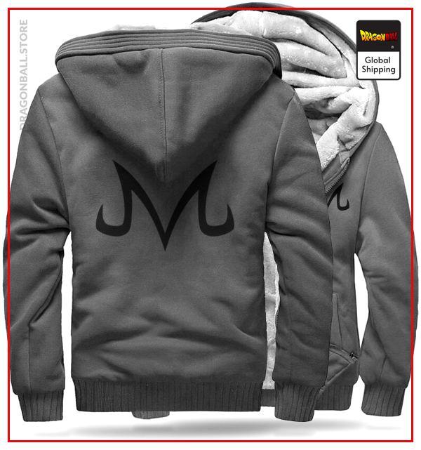 DBZ Fleece Jacket Majin Grey and Black M Official Dragon Ball Z Merch