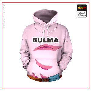 Pink Bulma Hoodie DBM2806 S Official Dragon Ball Merch