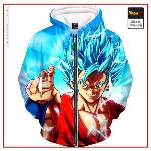 SSGSS Goku Zipper Hoodie DBM2806 M Official Dragon Ball Merch