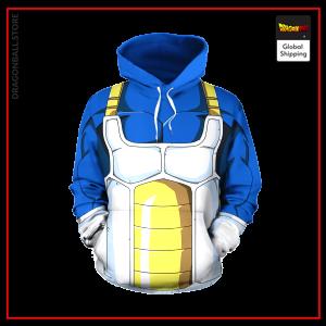 Blue Saiyan Armor Hoodie DBM2806 S Official Dragon Ball Merch