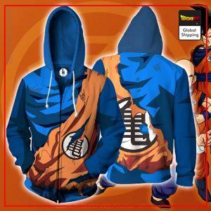 Damaged Goku Outfit Zipper Hoodie DBM2806 M Official Dragon Ball Merch