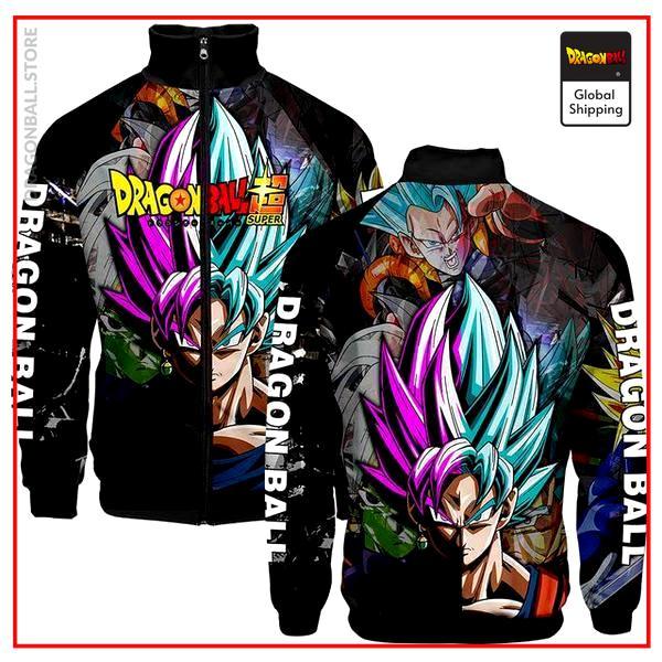 SSJ Blue Goku & SSR Goku Black  Jacket DBM2806 XXS Official Dragon Ball Merch