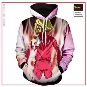 Android 18 Hoodie DBM2806 M Official Dragon Ball Merch