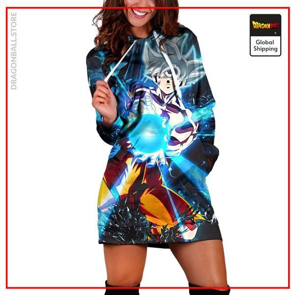 (DBMerch) Ultra Instinct Goku Hoodie Dress DBM2806 XS Official Dragon Ball Merch