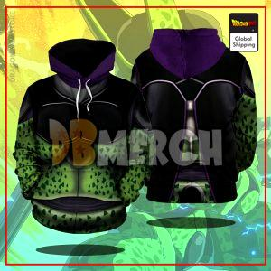 (DBMerch) Perfect Cell Armor Hoodie DBM2806 US M Official Dragon Ball Merch