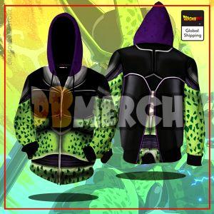 (DBMerch) Perfect Cell Armor Zipper Hoodie DBM2806 M Official Dragon Ball Merch