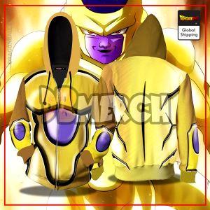 (DBMerch) Golden Frieza Armor Zipper Hoodie DBM2806 M Official Dragon Ball Merch