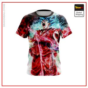 SSGSS Kaioken Goku T-Shirt DBM2806 US Small Official Dragon Ball Merch