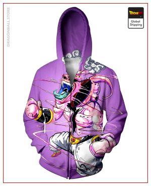 Purple Kid Buu Zip-Up Hoodie DBM2806 S Official Dragon Ball Merch