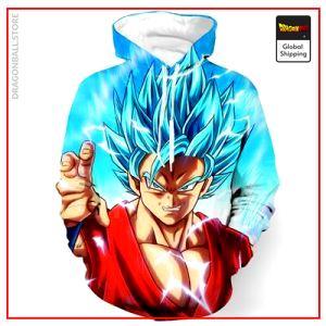 SSGSS Goku Hoodie DBM2806 S Official Dragon Ball Merch
