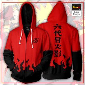 Red & Black Konoha Zipper Hoodie DBM2806 S Official Dragon Ball Merch