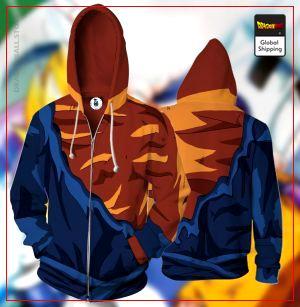 Damaged Goku Armor Zipper Hoodie DBM2806 S Official Dragon Ball Merch