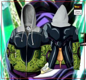 Perfect Cell Zipper Hoodie DBM2806 S Official Dragon Ball Merch