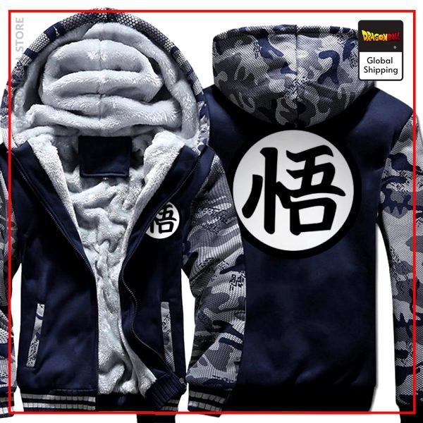 Premium Winter Kanji Fleece Jackets (Goku's Kanji) DBM2806 Dark Gray / M Official Dragon Ball Merch
