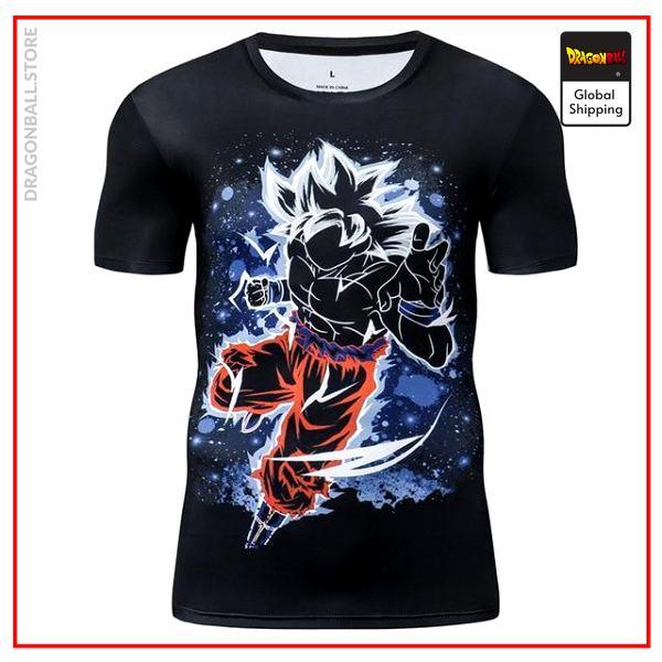 Premium Compression Ultra Instinct Gym T-Shirt DBM2806 UDJ26 / Asia S Official Dragon Ball Merch
