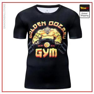 Premium Compression Golden Oozaru Gym T-Shirt DBM2806 UDJ28 / Asia S Official Dragon Ball Merch