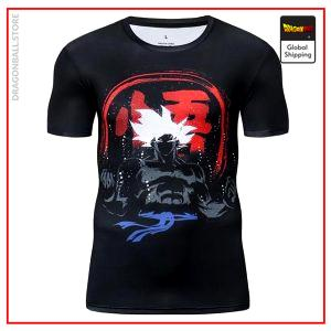 Premium Compression Ultra Instinct Gym T-Shirt DBM2806 UDJ32 / Asia S Official Dragon Ball Merch