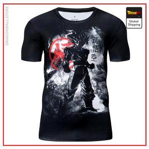 Premium Compression SSJ Goku Kanji Gym T-Shirt DBM2806 UDJ33 / Asia S Official Dragon Ball Merch