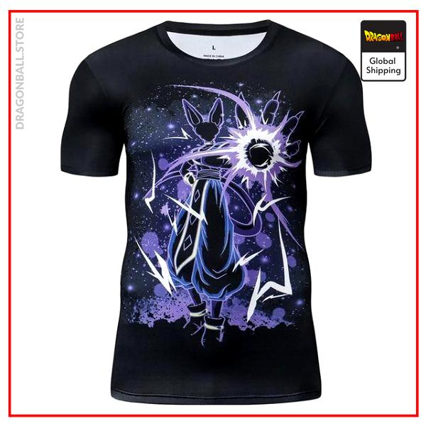 Premium Compression Beerus Hakai Gym T-Shirt DBM2806 UDJ37 / Asia S Official Dragon Ball Merch