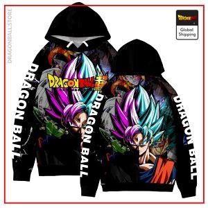 SSJ Blue Goku & SSR Goku Black Hoodie DBM2806 XXS Official Dragon Ball Merch