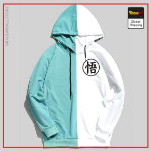Double Color Kanji Hoodie DBM2806 Red & White / S Official Dragon Ball Merch