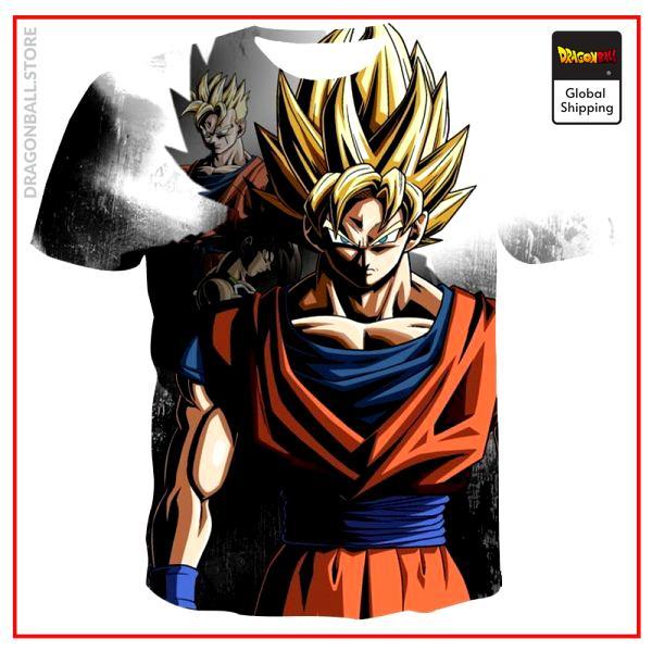 2021 Summer Fashion New Super Luminous Dragon Ball 3D Printing Anime Men s Short Sleeve Trend - Dragon Ball Store